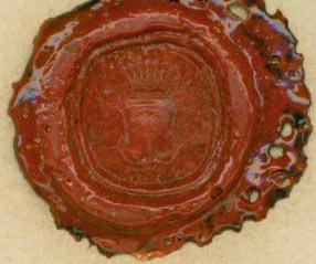 Stamped Wax Seal for Freiherr von Keyserlingk.: Freiherr von Keyserlingk.