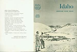 Dust Jacket only for Idaho: A Guide: WPA Federal Writer's