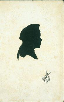 Original Souvenir Silhouette. Post Card Woodcut. Signed & dated by Artist.
