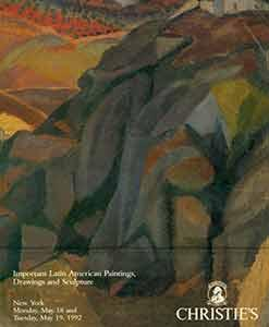 """Important Latin American Paintings, Drawings and Sculpture. May 18-19, 1992. Sale # """"7456.""""..."""