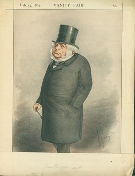 Statesmen, No. 3. Chromolithograph of John Bright, from Vanity Fair, February 13, 1869.: Vanity ...