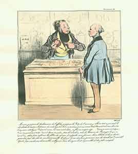 Robert Macaire parfumeur] '--Monsieur, je meprise le: Daumier, Honoré (1808-1879).
