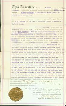 Deed of Sale Between Richard Sparling & W. A. Ingalls, Nov. 11, 1898.