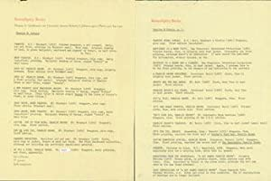 Typed List of Charles M. Schulz Works at Serendipity Books.