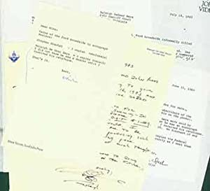7 separate pieces include typed letters and handwritten letters sent and received by Herb Yellin.: ...