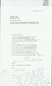 Signed letter from Herb Yellin to President Richard Nixon.: Herb Yellin.