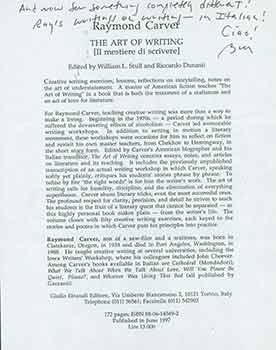 """Signed announcement for """"Il Mestiere di Scrivere"""": Giulio Einaudi Editore"""