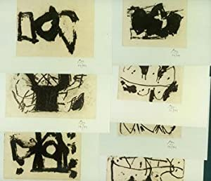 Robert Motherwell Portfolio. Hollow Man Suite Nos. 1 - 7. Color Photographs of a Series of Etchin...