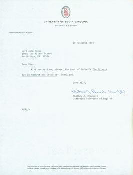TLS Matthew J. Bruccoli (University of South: Matthew J. Bruccoli