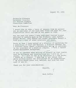 Draft of typed letter from Herb Yellin: Herb Yellin.