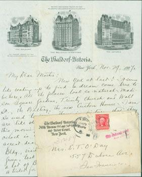 MS Letter by Edward O'Day to his: Edward Francis O'Day.
