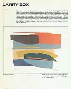 Niagara Series I.: Zox, Larry (artist).