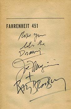 Fahrenheit 451. First printing. (Signed Association copy).: Bradbury, Ray and