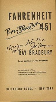 Fahrenheit 451. (Signed Association copy).: Bradbury, Ray and