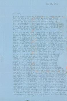 TLS Jonathan Cott sent to Thomas Parkinson, May 23, 1966.: Jonathan Cott (UC Berkeley).
