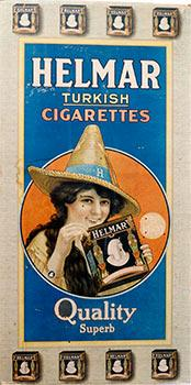 Helmar Turkish Cigarette. Original poster.