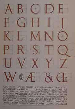 Second draft of a constructed Roman alphabet being a geometric analysis of the Greek and Roman ca...