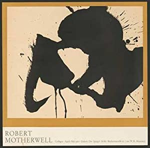 Robert Motherwell. Collages. Galerie der Spiegel. April/Mai 1962 962. Original poster