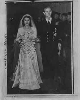 H.R.H Princess Elizabeth, at her wedding to: Allied Newspapers LTD.