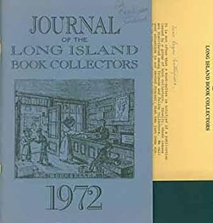 The Journal of the Long Island Book Collectors. No. 2 - 1972. Includes signed/autographed letter ...
