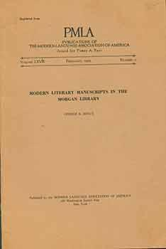 Modern Literary Manuscripts in the Morgan Library. PLMA. Publications of the Modern Language Asso...