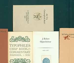 Collection of five limited edition Typophiles monographs, including: Typophiles Chap Book Comment...