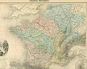 France Physique (19th Century map of France ...
