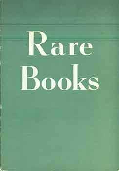 Rare Books. Catalogue Number 130. Signed by Frank M. Thomas.