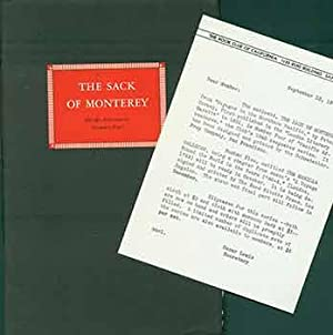 Pacific Adventures, Number Four: The Sack of Monterey, 1940 Keepsake Series from the Book Club of...