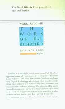 Announcement for The Work of F. L. Schmied (This is a prospectus, and not the book itself.)