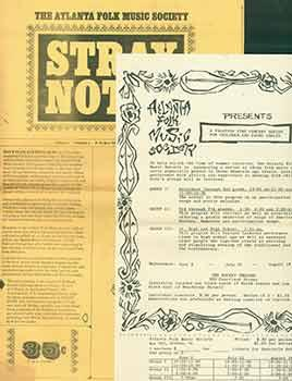 The Atlanta Folk Music Society: Stray Notes. Volume 1, Number 1, June 1, 1965.