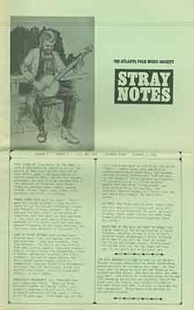 The Atlanta Folk Music Society: Stray Notes. Volume 1, Number 5, October 1, 1965.