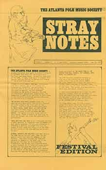 The Atlanta Folk Music Society: Stray Notes. Volume 2, Number 0, May 19, 1966.