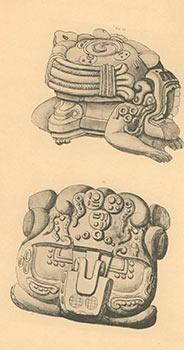 The Stone Sculptures of Copan and Quiriqua [Mayan]. Original edition. Not ex-library.