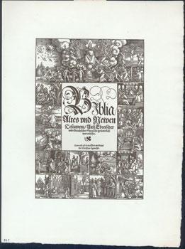 Titleblatt zur Deutschen Bibel.: Beham, Hans Sebald.