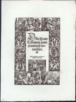 Titleblatt zu den Propheten den Deutschen Bibel.: Beham, Hans Sebald.