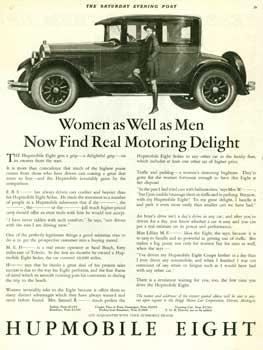 Collection of vintage Hupmobile automobile advertisements.: Various magazine publishers.