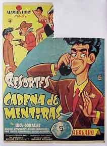 Resortes en Cadena de Mentiras. Abogado. [Movie poster / Cartel de la película].: ...