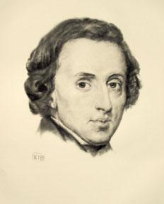 Portrait of Chopin.: Böhringer, K. I.