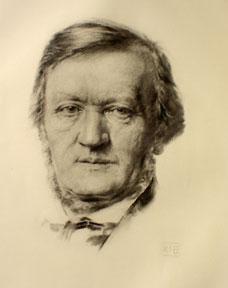 Portrait of Richard Wagner.: Böhringer, K. I.