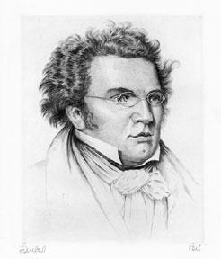 Portrait of Franz Schubert. [Large].: Pech.