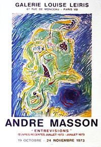 André Masson: Entrevisions, oeuvres recentes. Juillet 1972-juillet 1973. Gravures.
