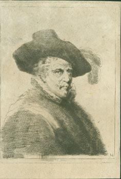 [Portrait Of A Man Wearing A Feathered Hat]. Etching on laid paper.