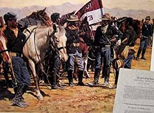 Ready For Ten: Buffalo Soldiers -- 10th US Cavalry. (Limited Edition Poster). (Signed by the arti...