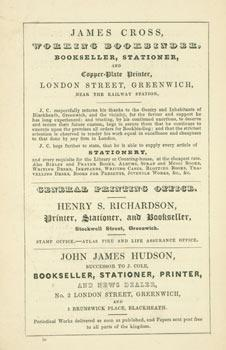 Advert for J. W. Beaver's Public Library and Reading Room.