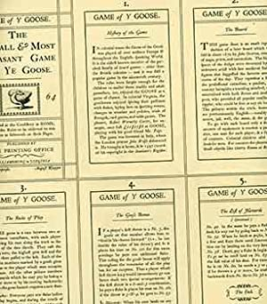 The Royal & Most Pleasant Game of Ye Goose. (Facsimile reprint originally published London: John ...