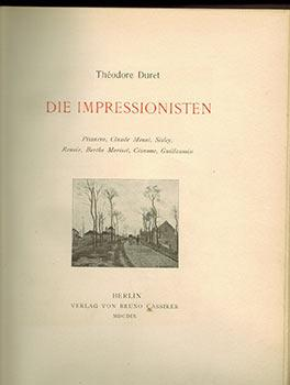 Die Impressionisten. First edition lacking the etchings.