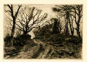 A Winter Evening.: Slocombe, Frederick.