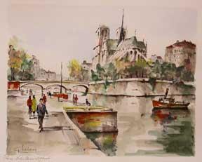 Paris, Notre Dame l'Abside.: Lelong, G.
