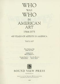 Who Was Who in American Art. 1564-1975.: Falk, Peter.